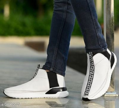 HIGH TOP WHITE CASUAL SHOES