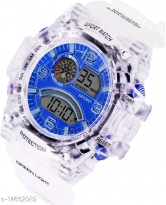 WHITE IN BLUE THEME WATCH