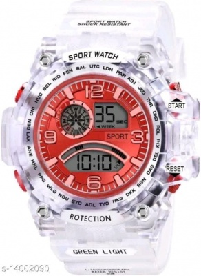 WHITE IN RED THEME WATCH