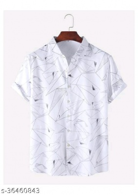 COMFY PRINTED SHIRTS IN WHITE